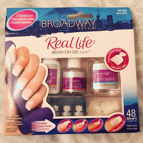 Broadway Nails *brand new* Brush On Gel Nail Kit. Easy Apply - Depop