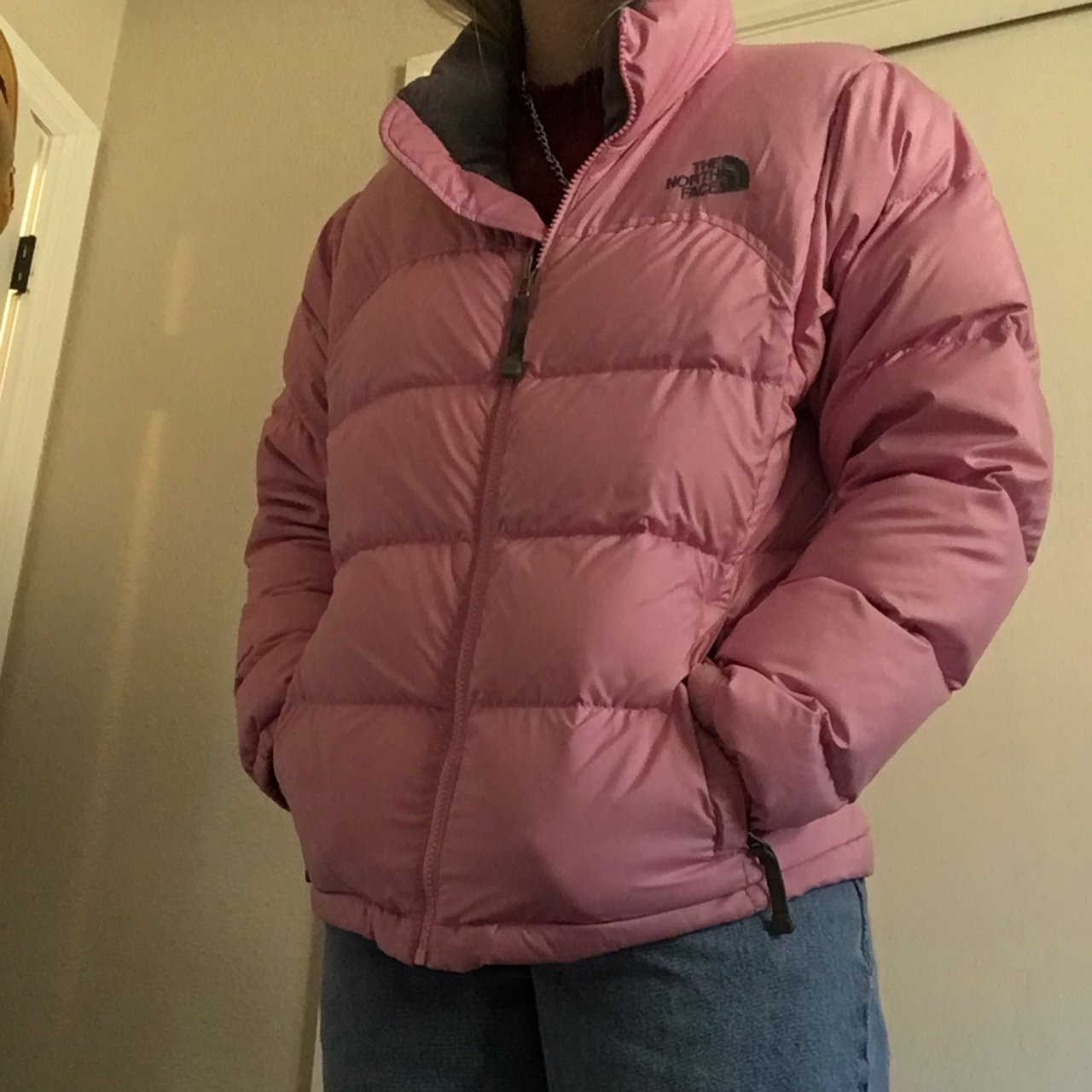 046aad6f58 Pink north face puffer jacket Women s Small