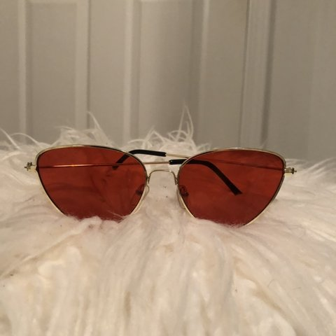 aeb2eab609 Red Cat Eye Sunglasses - - - About  red and gold cat eye - Depop
