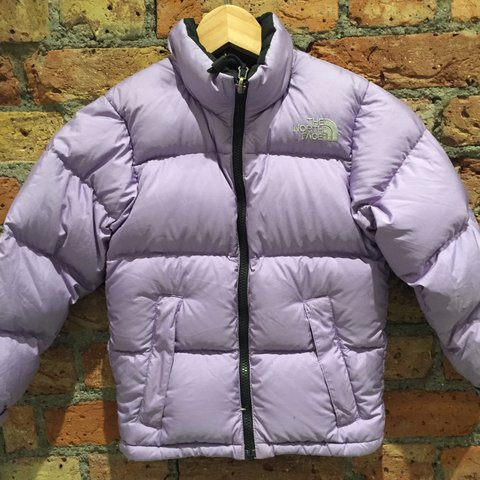 ... official lilac purple north face puffer puffa jacket a very small is  depop 19f32 6a368 8bf7967d8