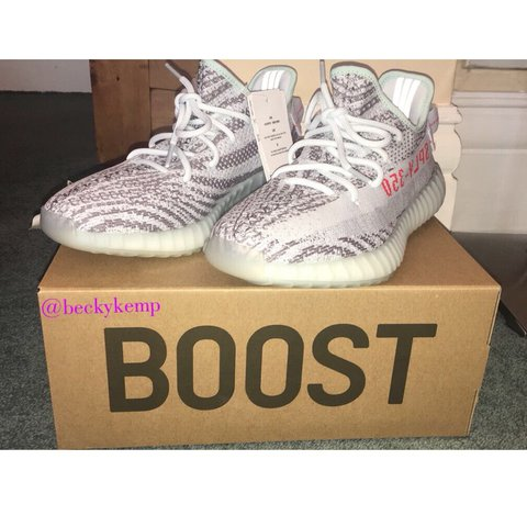 54aba1404 Adidas Yeezy Boost 350 V2 Blue Tint Size 8 UK (Euro 42) West - Depop