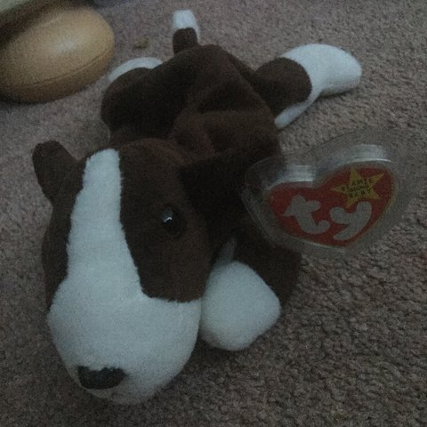 dfe884555b4  DISCONTINUED  bull terrier Ty Beanie Baby  Bruno🐶 tag has - Depop
