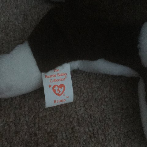 7e387cbdfb4 DISCONTINUED  bull terrier Ty Beanie Baby  Bruno🐶 tag has - Depop