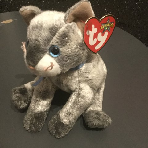 953a943fe28 RARE  Gorgeous grey cat Ty Beanie Baby  Frisco🐱in like new - Depop