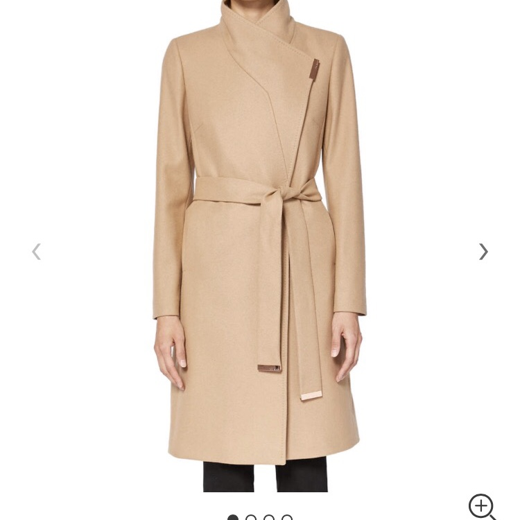 new concept popular stores new Ted baker wrap front coat Colour : nude/camel Such... - Depop