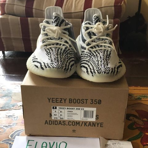 e5fc813a3 WTS Yeezy boost 350 v2 zebra. Size  EU 42 2 3   US 9  UK up - Depop