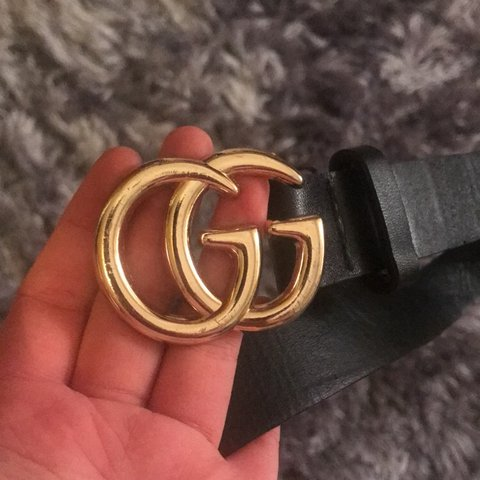 09df6267d1eb Black belt with gold plated GG detail. Bought from caris - Depop