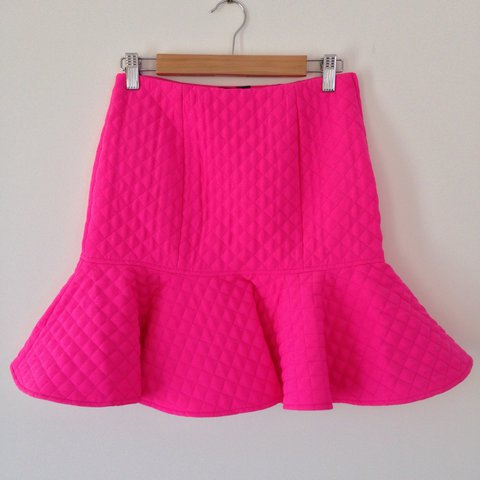 8ddce060cd FLIRTY Barbie Hot Pink Trumpet Skirt from ASOS. Never lined, - Depop
