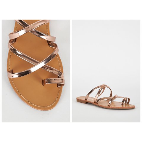 c02c7c1f9d5 ✨NEW ARRIVAL✨ ROSE GOLD SLIP ON SANDALS AVAILABLE IN SIZE UK - Depop