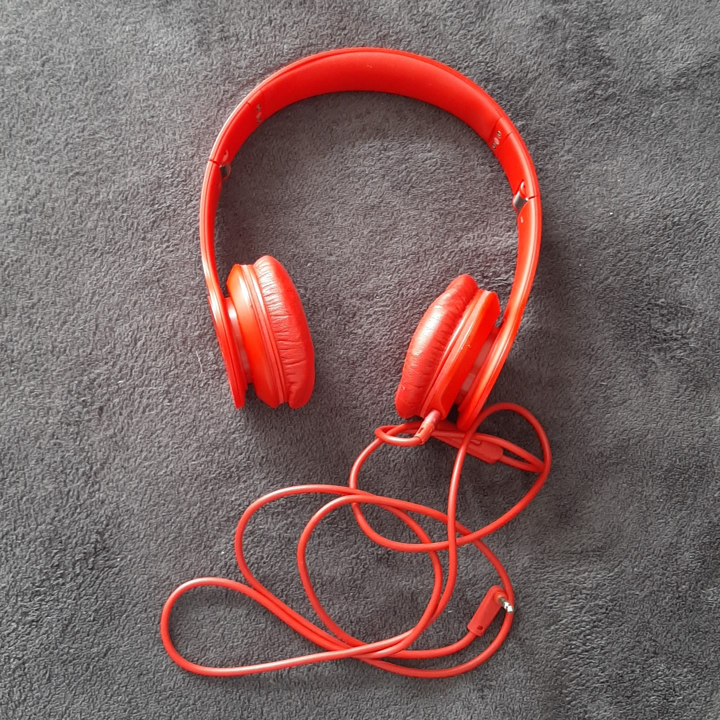 Original Red Beats Solo Hd Wired Headphones Hardly Depop