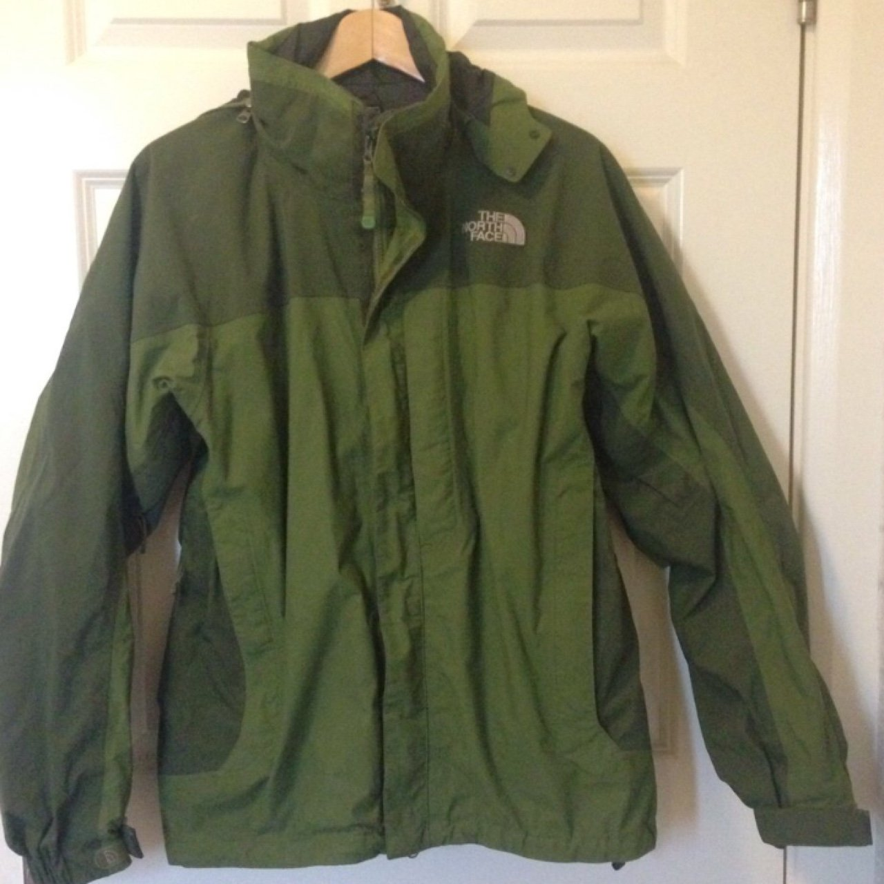North face khaki coat  mens size M but would say its a size - Depop 533861f55