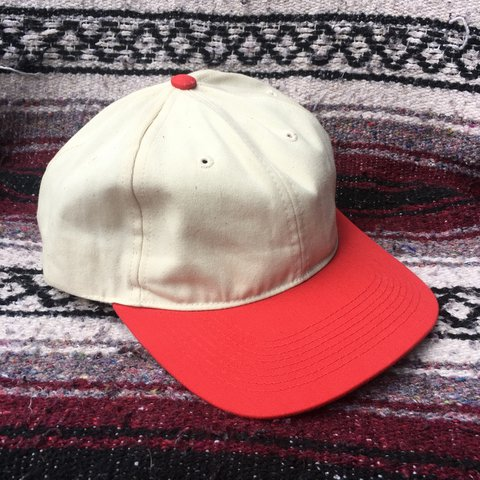 56e69aa10e046 Vintage deadstock 6 panel unstructured dad hat. Brand new  a - Depop