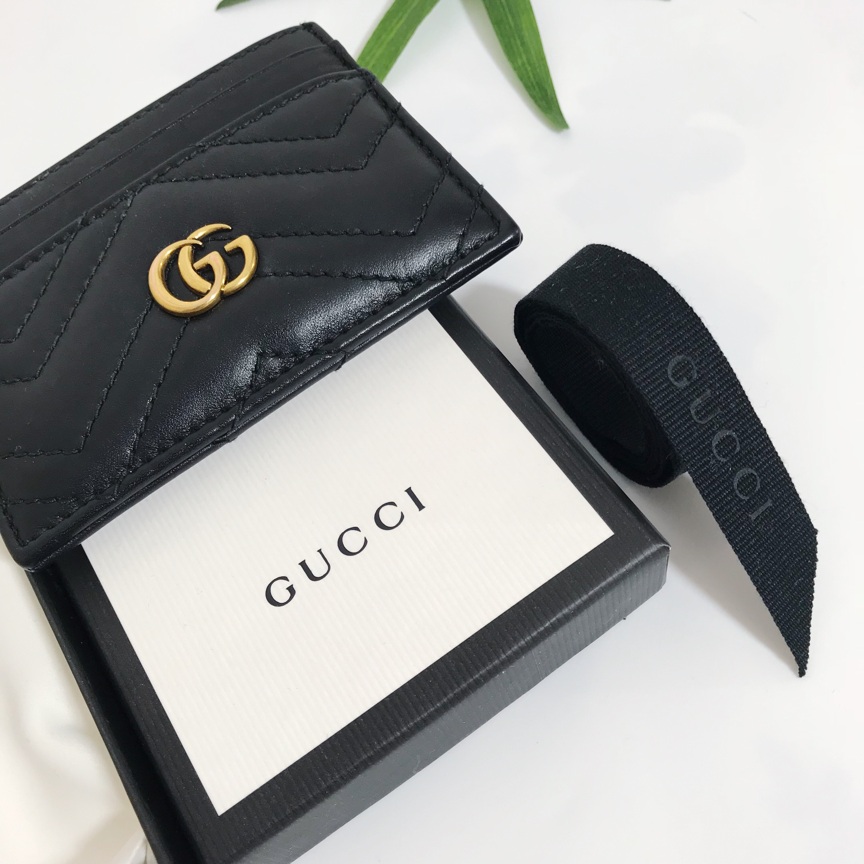 00eabcab9876b GUCCI 🐝 GG Marmont quilted leather cardholder... - Depop