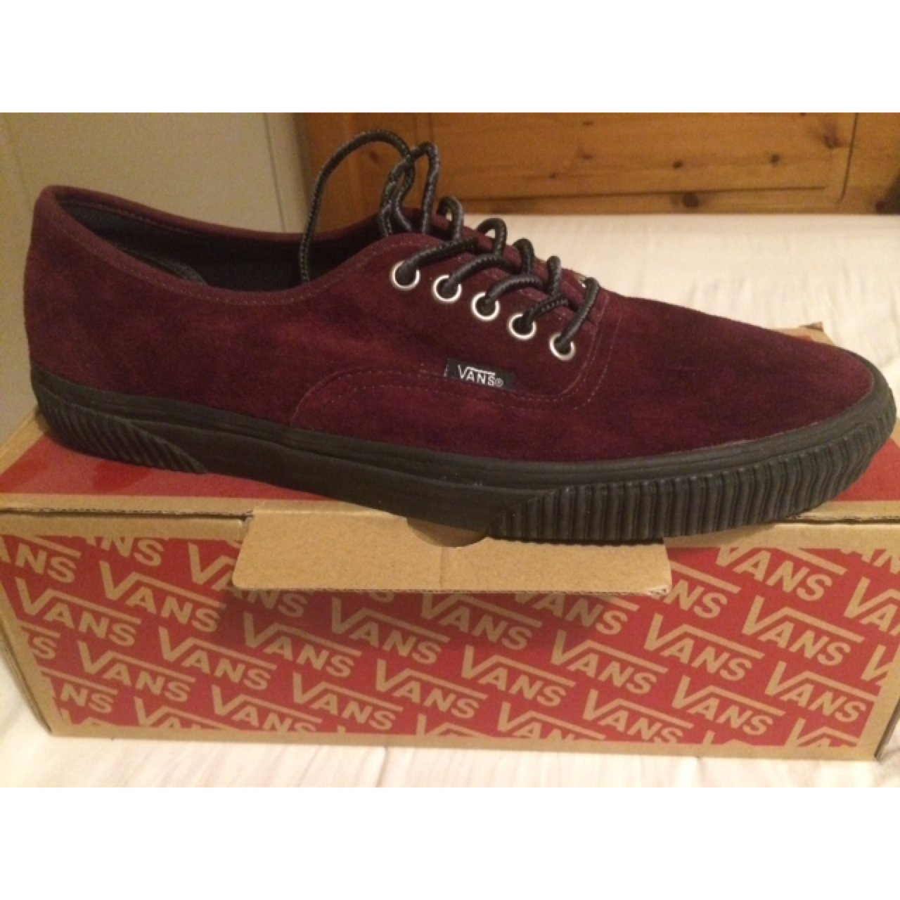 Vans old skool burgundy suede size uk10 no signs of wear - Depop 53b458773