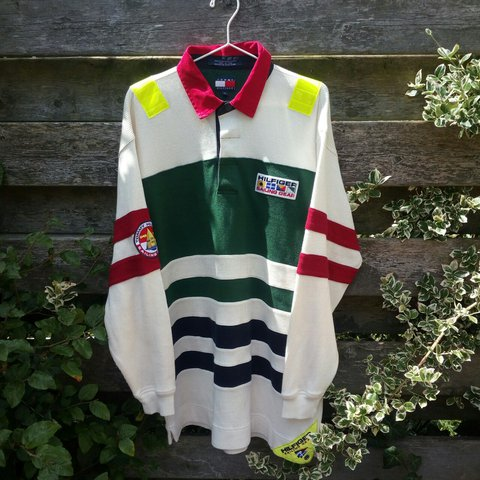 684cf4d7 @crackiswack. last year. United Kingdom. Vintage Tommy Hilfiger Sailing  Gear, Longsleeve Polo.