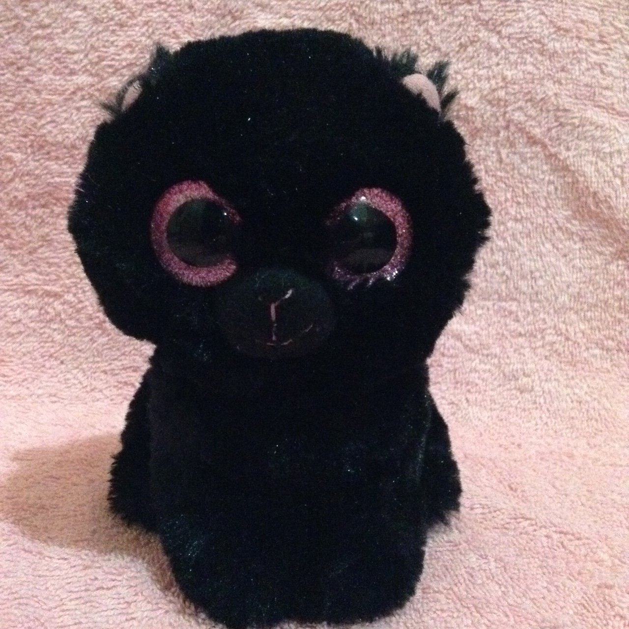 Really cute beanie boo plushy! She s all black with pink and - Depop a5e81cf7600