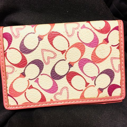 4be10ab80 Small Coach wallet in pink color