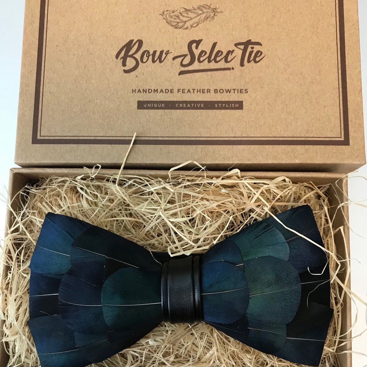 """fad2641ecba1 Blue Feather"""" Bow Tie🦋🔥 """"Bow - Selectie"""" Brand • Extra a - Depop"""