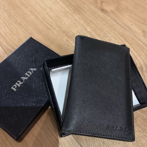 0a043b201cbc PRADA- leather card holder Six credit cards slot Two 100% - Depop