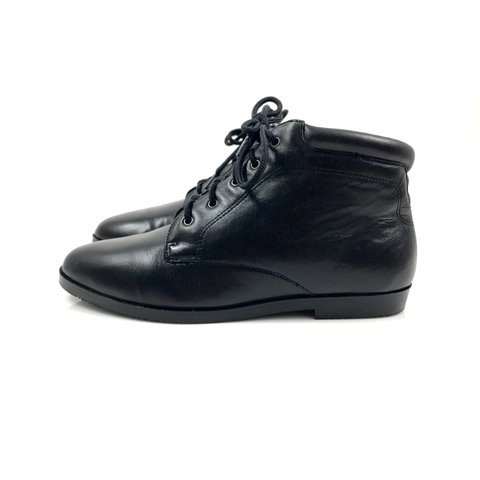 ff78beaf4 @vintagefatale. 8 months ago. Easton, United States. Vintage 90's DANEXX  black leather lace up ankle boots.
