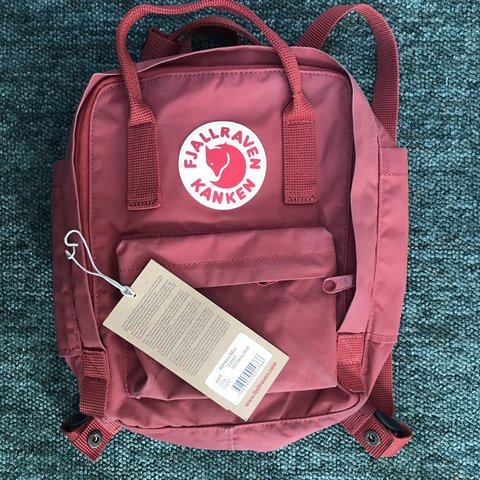 fa90ef8dc7 Fjallraven kanken mini in deep red. Bought earlier this year - Depop