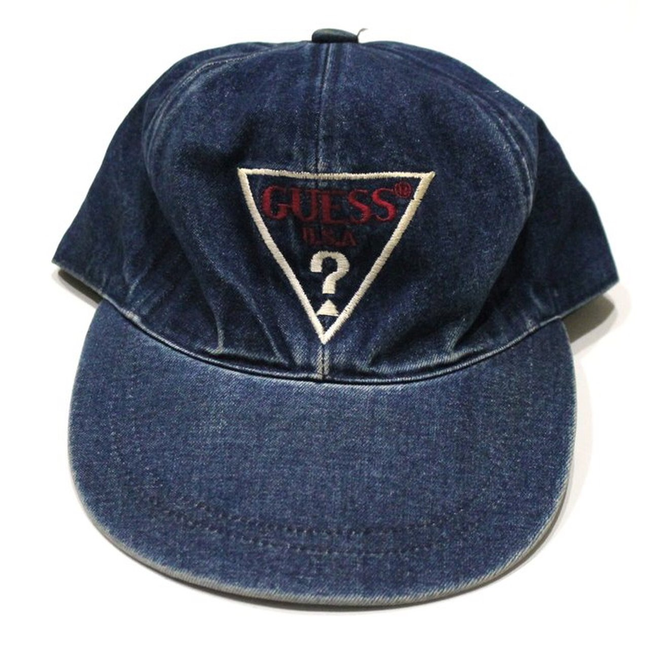 6dad6d6ed59a5 Vintage Guess Logo Denim cap. All products listed are and - Depop