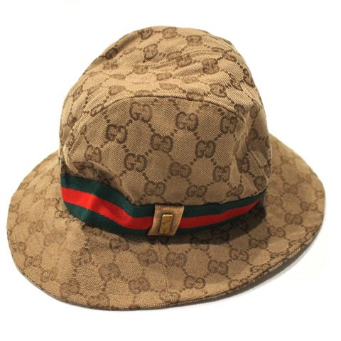 ffdbf35d5ec63 Vintage Gucci Monogram bucket hat. Fits S M All products - Depop