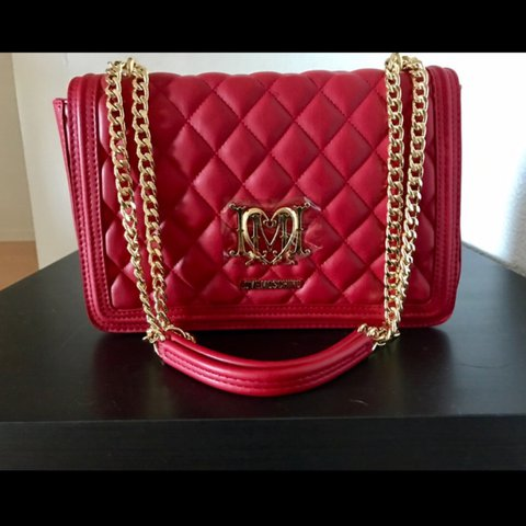 5714b2fff76 New Love Moschino Quilted Shoulder Bag W  Chain New never - Depop