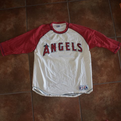 38d375f97ad Los Angeles Angels Embroidered baseball tee Majestic - Depop
