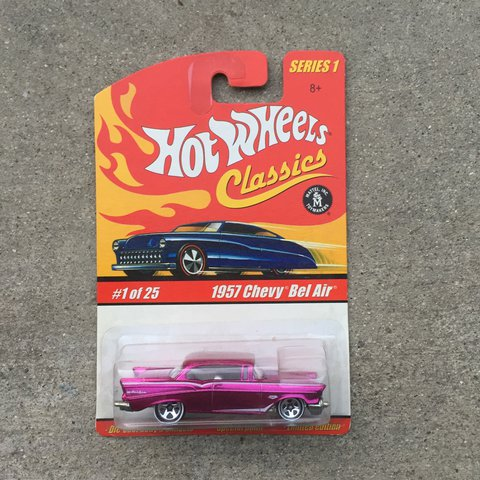 Hot Wheels Classics Series 1 1957 Chevy Bel Air 125 Year Depop