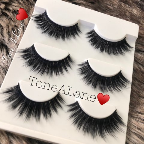3a799c4a56f False Eyelashes Lashes Glam Mink Lashes Package include: $3 - Depop