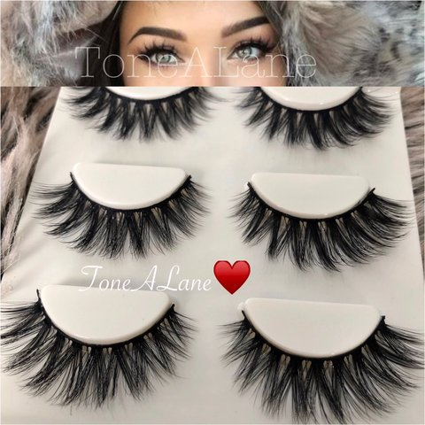 008419731bc False Eyelashes mink Lashes wispy Package include: ⭐️3 for - Depop