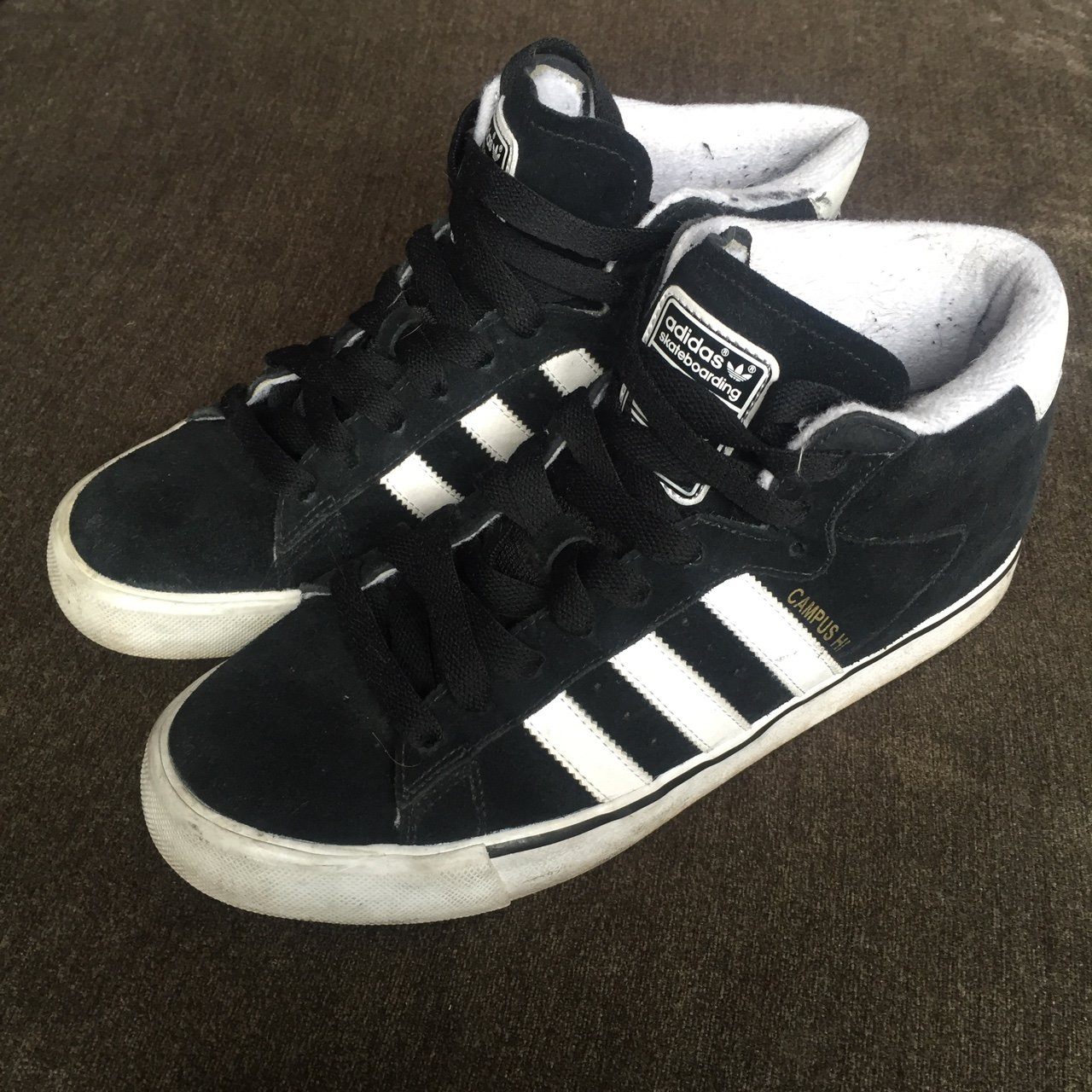 Adidas Campus Hi    Size 8 Used but in good condition. - Depop f9a6f11127c6
