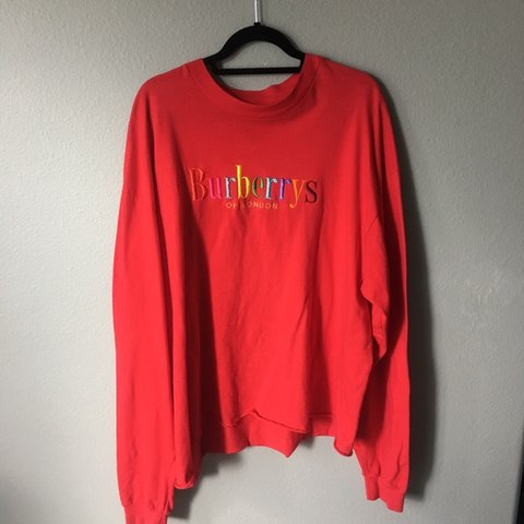 6dc0e292f VINTAGE BURBERRY RAINBOW SPELL-OUT LONG SLEEVE. All - Depop