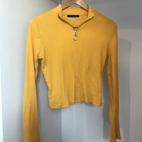 Free Delivery Urban Outfitters Yellow Long Sleeve Jumper M Depop