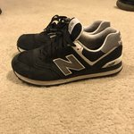 New Balance 999, White Leather. Very Good Condition, Has a