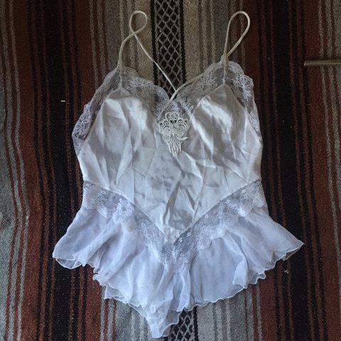 81b35c9fd8c Vintage 70s White Teddy This is straight up dreamy. Super - Depop