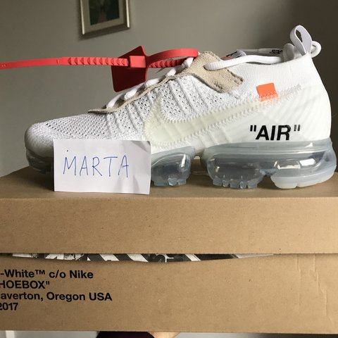 Tomate pegamento Mujer joven  Nike Air vapormax off white ow brand new 7.5uk Og... - Depop