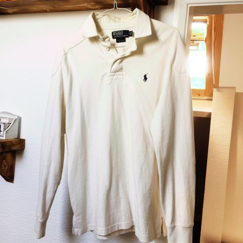 2da28785 @ryanbib97. last year. Southend-on-Sea, United Kingdom. Ralph Lauren custom  fit long sleeve off white polo