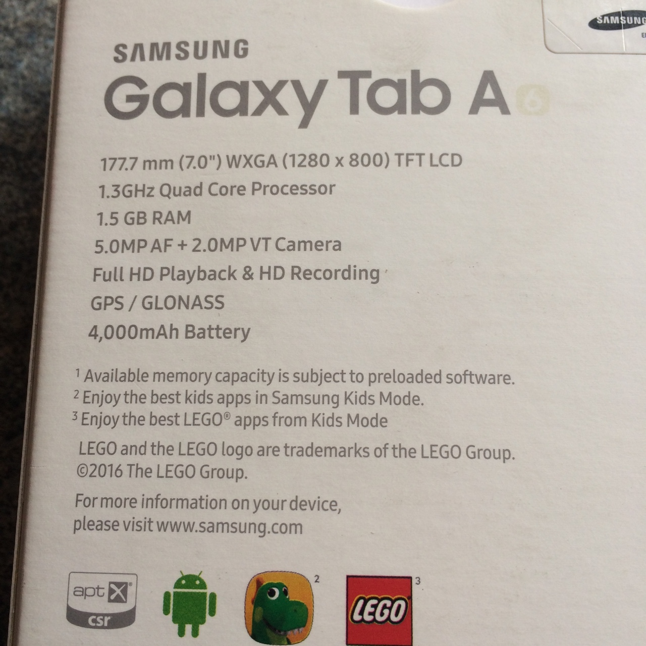 Samsung galaxy tab A6 in used good condition with    - Depop