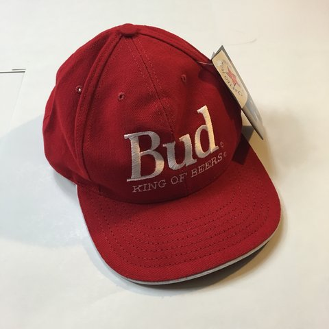 ec8b5b55ee1dd  freshtoast. last month. United States. New Budweiser hat red and white budweiser  bud king of beers ...