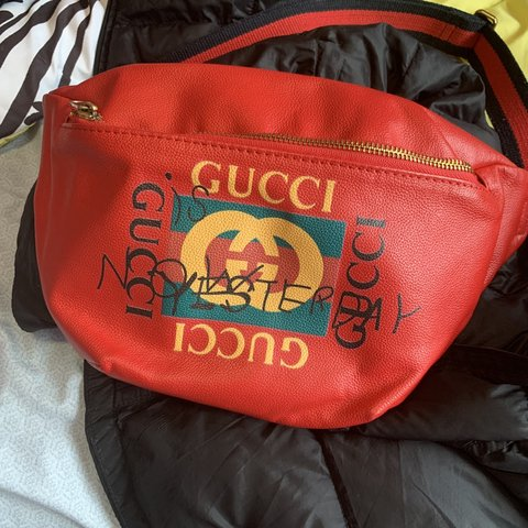 2f9c75ada204 Authentic red Gucci Coco Capitán fanny pack price negotiable - Depop