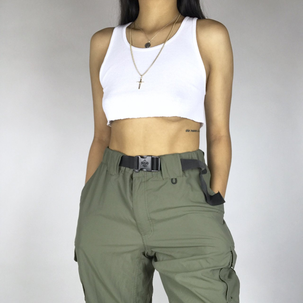 d5960e4bd3 @thethreadcollection. last year. United States. Olive green high waisted  cargo pants.