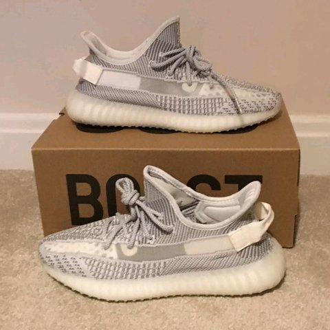 afca9c39159 Yeezy Boost 350 V2 Static Non Reflective SIZE  UK 6.5 US - Depop