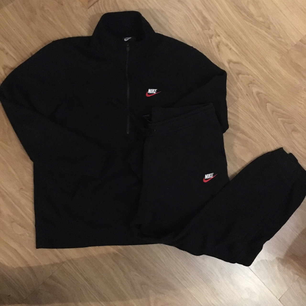 Un fiel experimental Bronceado  Nike Foundation Fleece Full Tracksuit In black... - Depop