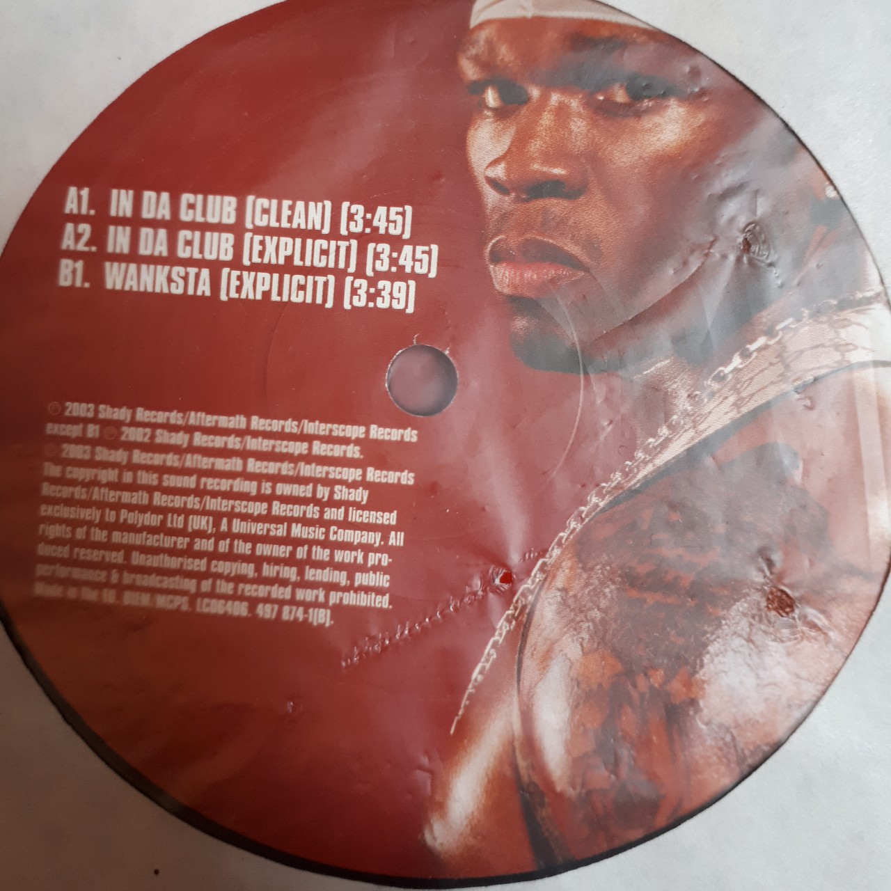 50 cent- in da club/ wanksta 12 inch vinyl    - Depop
