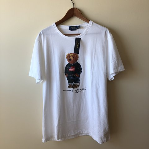 425edf62 @faithvoid. last year. Markham, Canada. BNWT Polo Ralph Lauren USA Bear t  shirt