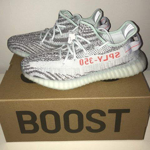 Yeezy Boost 350 V2 Blue Tint Size Uk 9 • DSWT 10 10 250 all - Depop 08a801bf2