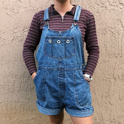 8d967ad2b6ad Heck yeah! Super cute vintage overalls! They even have the 5 - Depop