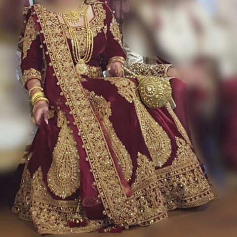 d2d480dda95 Stunning Pakistani Indian Bridal wedding dress. bought from - Depop